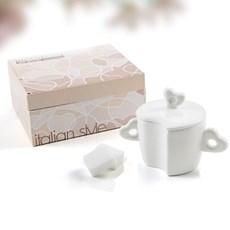 Porseleinen suikerpot Hart