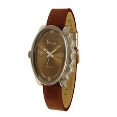 Horloge Glossy Ovaal Donker Bruin