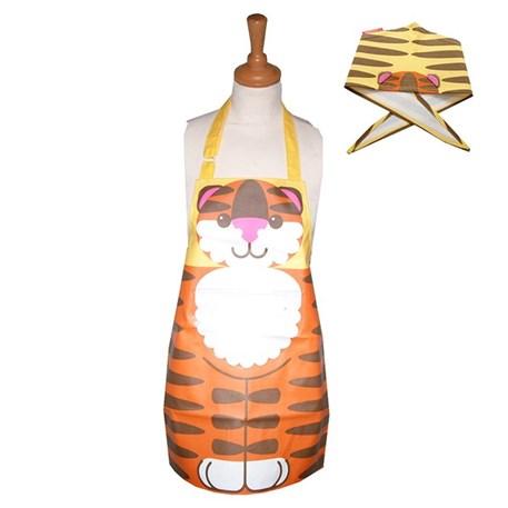 Kinderschort van PVC en katoenen bandana met tijgerafbeelding