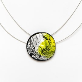 Collier Midnight Moon Peridot/Zilver
