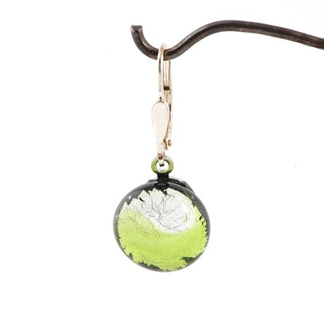 Oorbel Midnight Moon in Peridot/Zilver