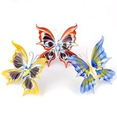 Sculptuur Glazen Vlinder Assorti