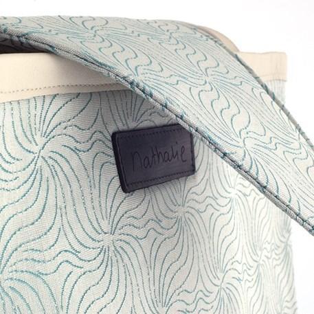Handtas Design Nathalie - Blue Blossom