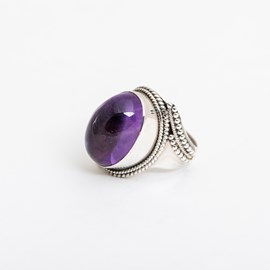 Ring Oval Amethyst