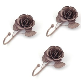 Set van 3 Haakjes Grey Rose