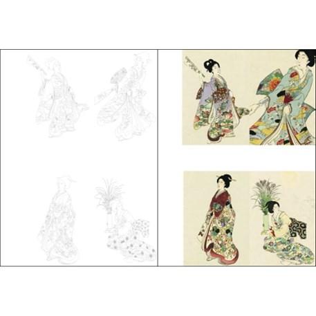 Paper Craft Book Kimono Postkaarten
