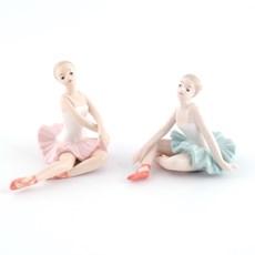 Set van 2 Porseleinen Ballerina's