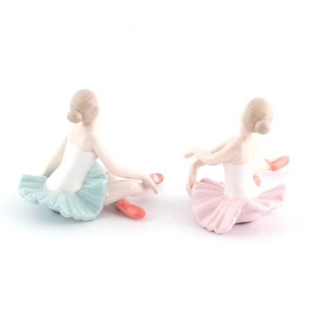 Set van 2 Porseleinen Figuren Ballerina's