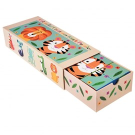 Stapelblokken Puzzel   Colorful Creatures