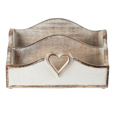 Brievenhouder Wooden Heart