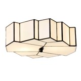 Tiffany French Art Deco Plafonnière / Wandlamp Glamour