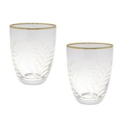 Set van 2 Glazen Feuilles