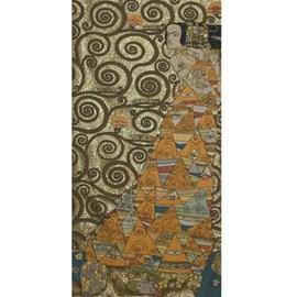 Wandkleed Klimt De Verwachting Goud