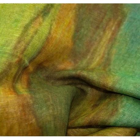 Sjaal Van Gogh 'Zonnebloemen in Vaas' Detail