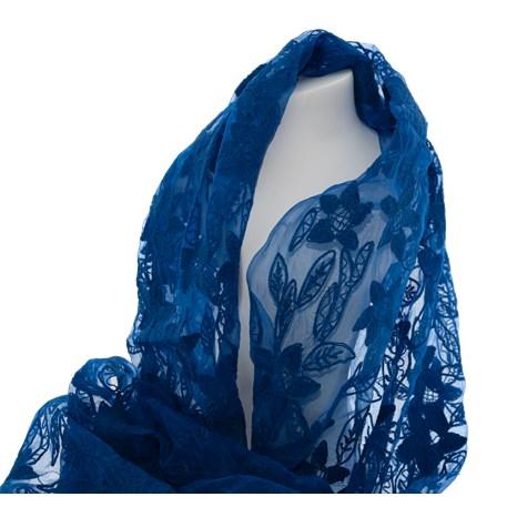 Sjaal Blauwe Zijde