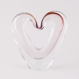 Sculptuur Liefdeshart in Glas
