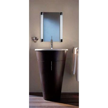 Sfeerfoto strakke badkamer buiswandlampen
