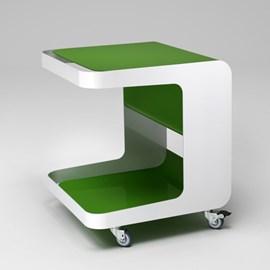 Retro Roll Container op Wieltjes Groen