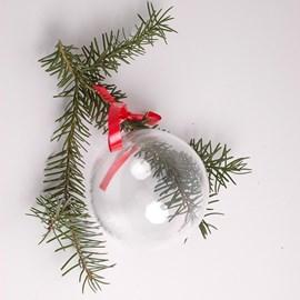 Kerst! Glazen Kerstbal