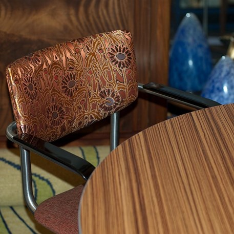 Sfeerbeeld Set van 4 RVS Buisstoelen Lalique