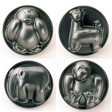 Set van 4 Bakvormen Dieren