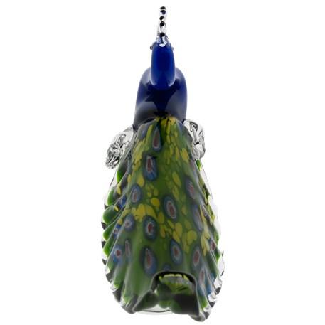 Glassculptuur Peacock